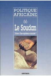 Politique africaine - 066Le Soudan. L'échec d'une expérience islamiste ?