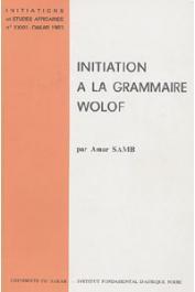 SAMB Amar - Initiation à la grammaire wolof