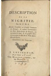 PRUNEAU DE POMMEGORGE Antoine Edme- Description de la Nigritie par M.P.D.P