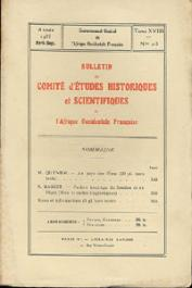 Bulletin du comité d'études historiques et scientifiques de l'AOF - Tome 18 - n°2-3 - Avril-Septembre 1935 (BCEHSAOF)