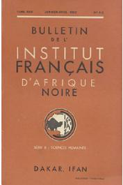 Bulletin de l'IFAN - Série B - Tome 24 - n°1-2 - Janvier-Avril 1962