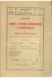 Bulletin du comité d'études historiques et scientifiques de l'AOF - Tome 13 - n°2 - Avril-Juin 1930 (BCEHSAOF)
