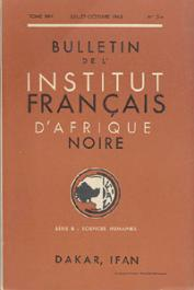 Bulletin de l'IFAN - Série B - Tome 25 - n° 3-4 - Juillet-Octobre 1963