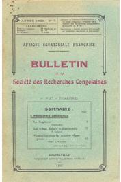 Bulletin de la Société des Recherches Congolaises - n° 07 - 2e, 3e et 4e trimestres 1925