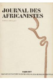 Journal des Africanistes - Tome 47 - fasc. 2 - 1977