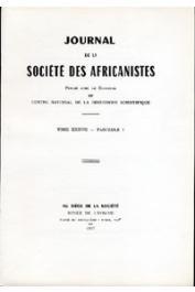 Journal de la Société des Africanistes - Tome 37 - fasc. 1 - 1967