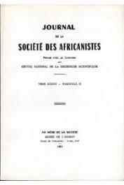 Journal de la Société des Africanistes - Tome 36 - fasc. 2