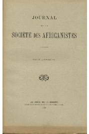Journal de la Société des Africanistes - Tome 09 - fasc. 1 - 1939
