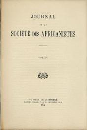 Journal de la Société des Africanistes - Tome 14 - 1944