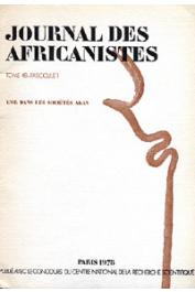 Journal des Africanistes - Tome 48 - fasc. 1 - 1978 - L'or dans les sociétés Akan