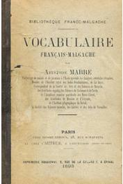 MARRE Aristide - Vocabulaire français-malgache