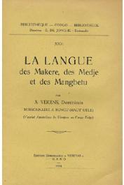 VEKENS A., Missionnaire à Rungu (Haut Uele) - La langue des Makere, des Medje et des Mangbetu
