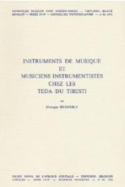 BRANDILY Monique - Instruments de musique et musiciens instrumentistes chez les Teda du Tibesti