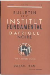 Bulletin de l'IFAN - Série B - Tome 32 - n°2 - Avril 1970