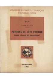 DAGET Jacques, ILTIS A. - Poissons de Côte d'Ivoire (eaux douces et saumâtres)