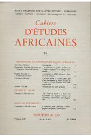 Cahiers d'études africaines - 045 / Recherches en littérature orale africaine