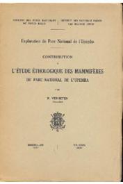 VERHEYEN R. - Contribution à l'étude éthologique des mammifères du Parc National de l'Upemba