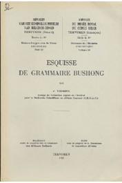VANSINA J. - Esquisse de grammaire Bushong