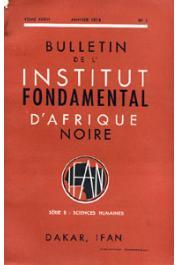 Bulletin de l'IFAN - Série B - Tome 36 - n°1 - Janvier 1974