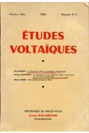 Etudes Voltaïques - Mémoire n° 3