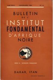 Bulletin de l'IFAN - Série B - Tome 28 - n°1-2 - Janvier-Avril 1966