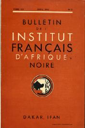 Bulletin de l'IFAN - Série A et B - Tome 14 - n°2 - Avril 1952
