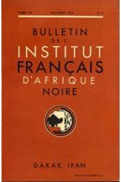 Bulletin de l'IFAN - Série A et B - Tome 15 - n°4 - Octobre 1953