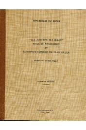 Etudes Nigériennes - 21, NICOLAS Jacqueline - Les juments des Dieux. Rites de possession et condition féminine en pays hausa (vallée de Maradi, Niger)