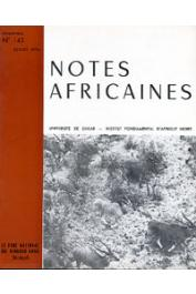 Notes Africaines - 143