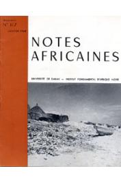 Notes Africaines - 117