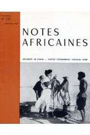 Notes Africaines - 121