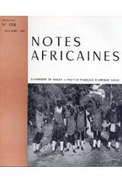 Notes Africaines - 108