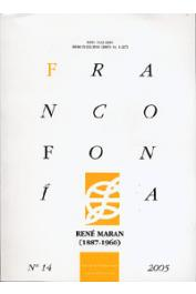 FRANCOFONIA 14, RUBIALES Lourdes (sous la direction de) - René Maran (1887-1960)