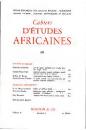 Cahiers d'études africaines - 040
