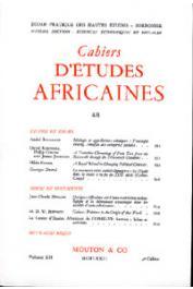 Cahiers d'études africaines - 048