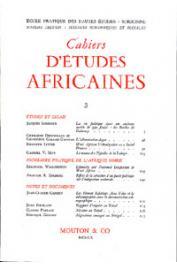 Cahiers d'études africaines - 003 /1960