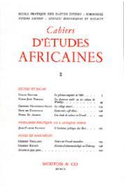Cahiers d'études africaines - 002