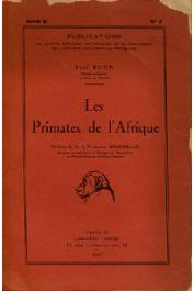 RODE Paul - Les primates de l'Afrique