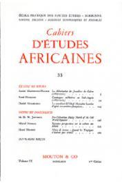 Cahiers d'études africaines - 033