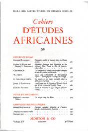Cahiers d'études africaines - 059