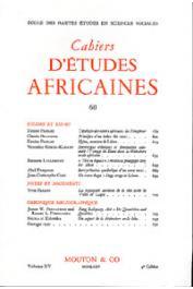 Cahiers d'études africaines - 060