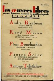 MARAN René - Journal sans date, roman inédit et complet