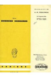 Cahiers ORSTOM sér. Sci. hum., vol. 03, n° 1, PODLEWSKI André-Michel - Les forgerons Mafa. Description et évolution d'un groupe endogame