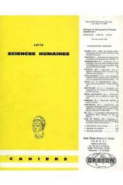 Cahiers ORSTOM sér. Sci. hum., vol. 08, n° 1 - Colloque de démographie africaine organisé par l'ORSTOM, l'INSEE et l'INED - Paris 6-9 octobre 1970