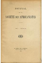 Journal de la Société des Africanistes - Tome 05 - fasc. 2