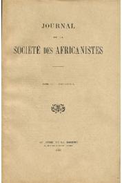Journal de la Société des Africanistes - Tome 06 - fasc. 1 - 1936