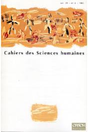 Cahiers ORSTOM sér. Sci. hum., vol. 29, n° 4