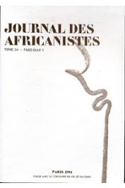 Journal des Africanistes - Tome 64 - fasc. 1 - 1994