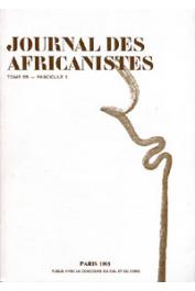 Journal des Africanistes - Tome 65 - fasc. 1 - 1995
