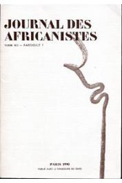 Journal des Africanistes - Tome 60 - fasc. 1 - 1990